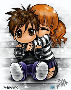 Cute Anime Couple This Is Kawaii I Found It On Photobucke Yumi Flickr