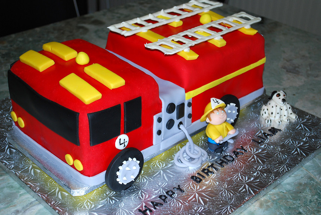 Firetruck Cake Entire Fire Engine Cake For Liam For His