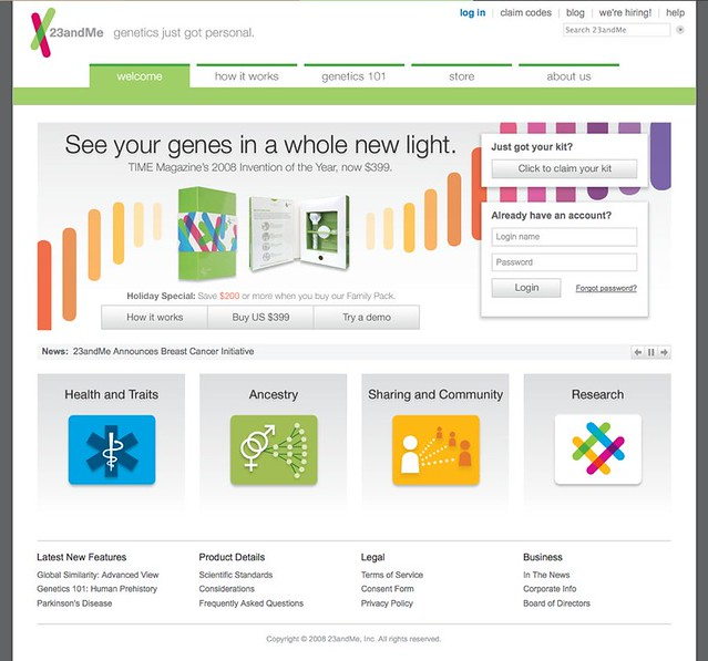 23andMe - Beyond genetic testing: Personal DNA analysis an… | Flickr