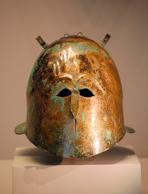Ancient Greek Helmet at Getty Villa