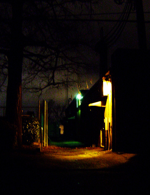Humble, Texas Back Alley 1226082004