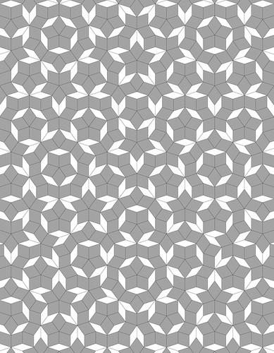 "Penrose star: 70""x 90"", variation | by domesticat"