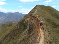 Some narrow spots - Hiking above Vilcabamba
