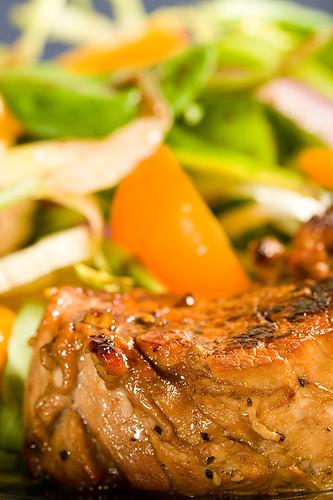 Pork Tenderloin Medallions w/Fennel Orange Salad