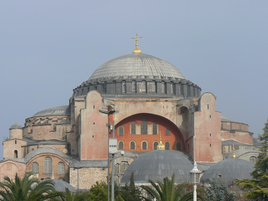 Image result for constantinople st sophia's with cross
