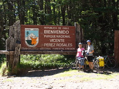 Randy and Nancy at the Chilean border