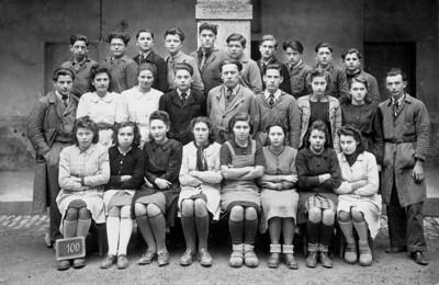 Le cours complémentaire d'Orgelet en 1944