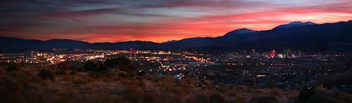 sunset sky panorama lights dusk nevada magenta nv reno sparks fakehdr