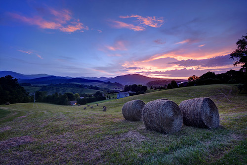 blue sunset sky mountains grass clouds nc nikon colorful asheville cut leicester north dream photographers fresh hills ridge western carolina d750 hay nikkor bales appalachia hdr rolling wnc 1424mm