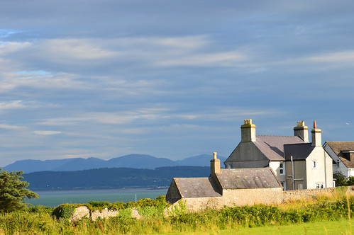 Cottages looking towards Snowdonia National Park