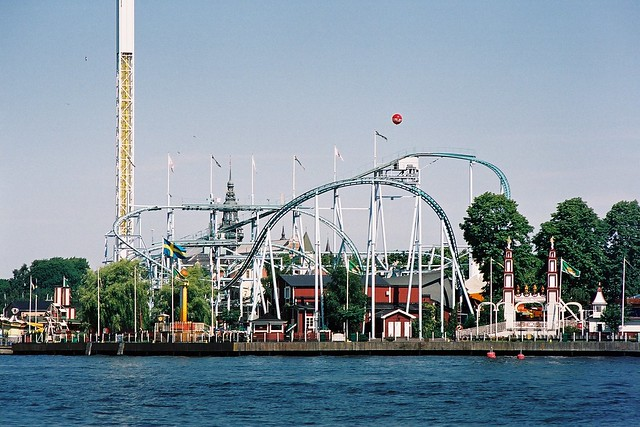 Rollercoaster on Gröna Lund