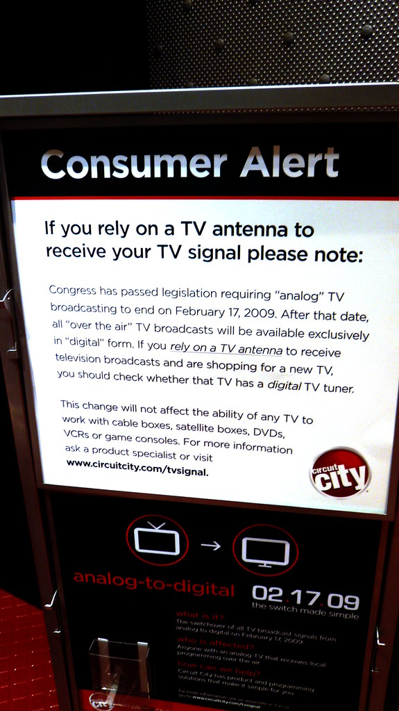 Congress broke your TV sign, Circuit City, Union Square, N