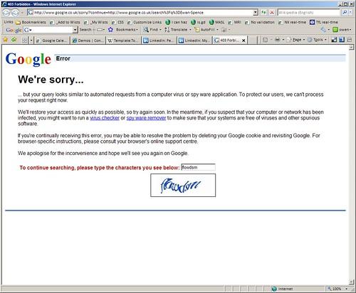 Google search captcha | by OwenBlacker