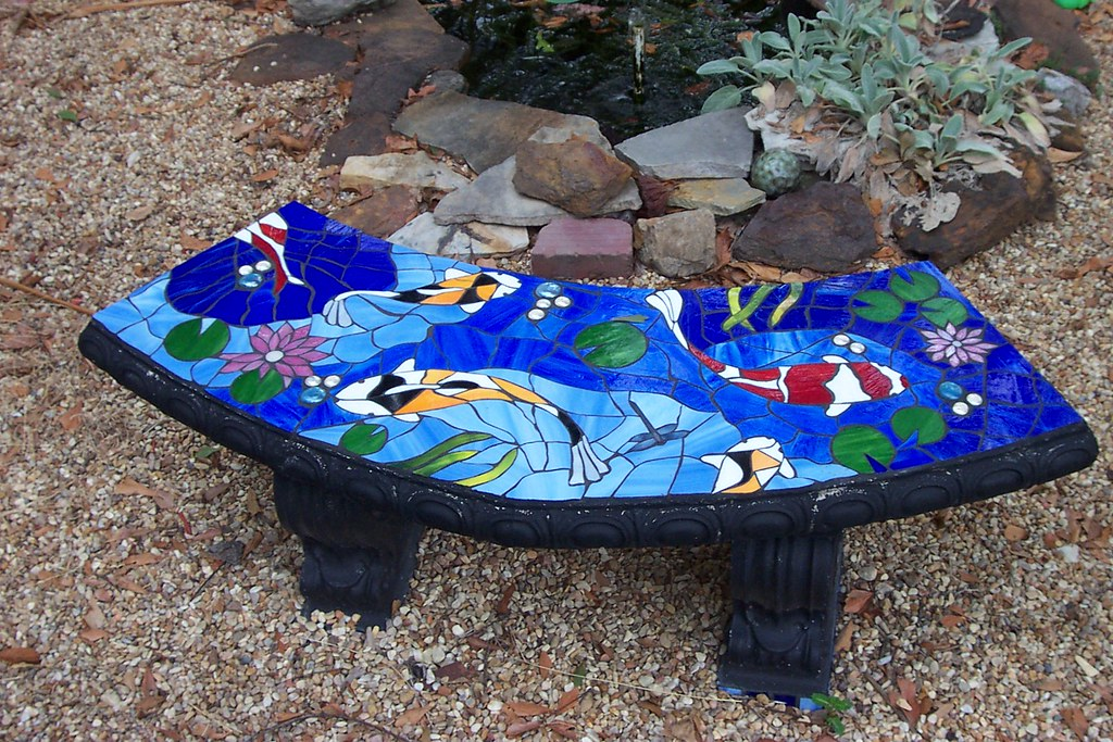 Sensational Stained Glass Mosaic Garden Bench Mosaic Art By Kathy Pres Ibusinesslaw Wood Chair Design Ideas Ibusinesslaworg
