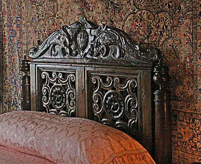 Hearst Castle - carved headboard