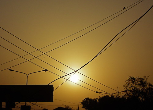 birds crossed dusty hot imran imrananwar lahore pakistan sunrise wires