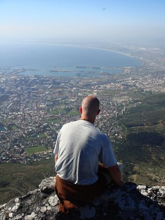 Mike on Table Mountain | by MarkAndMikeAbroad.com