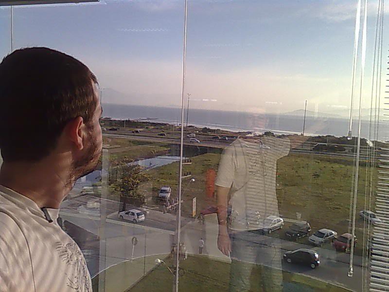"""Da janela do """"QG Floripa"""""""