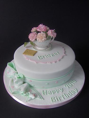 """Coffee Morning""  70th Birthday Cake | by abbietabbie"