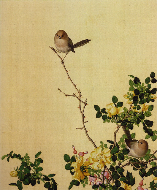 Giuseppe Castiglione 郎世寧 「畫仙萼長春(画仙萼長春)」