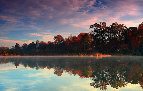 morning trees usa water clouds sunrise canon reflections landscape fallcolor lakes southcarolina goosecreek visualart tamron1750 fineartphotos 40d citrit canon40d photosexplore rubyphotographer