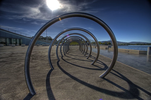 light sunset sky sun lake color art architecture clouds canon circle spiral design spring australia tunnel explore canberra griffin hdr burley bikerack photomatix 450d canberrasunset artlegacy canon1022mm3545