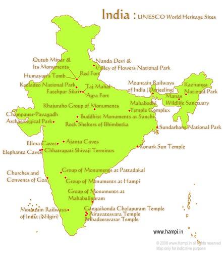 unesco-whs-india : List of UNESCO World Heritage Sites in