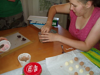 Making chocolate truffles | by stitchingbushwalker