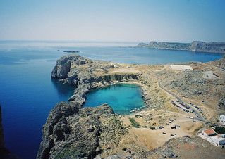 Picturesque Bay Below Lindos Citadelle, Rhodos, Greece | by Pet_r