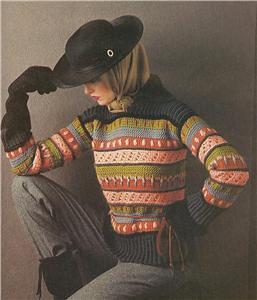 Vintage Sweater Knitting Patterns 1970s Colorwork Fair I Flickr