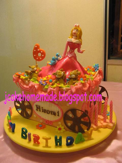 Disney Princess sleeping beauty cake
