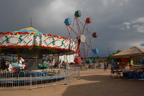 Carousel in storm