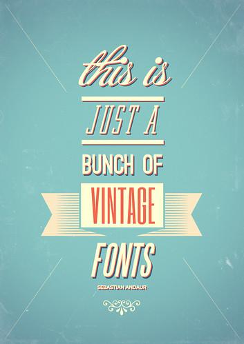 Vintage Fonts | by Sebastián Andaur / http://work.andaurstudios.cl +