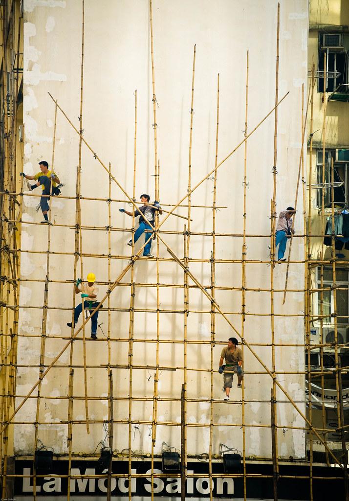 Bamboo Scaffolding in Causeway Bay neighborhood
