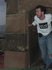 Fri, 2008-10-24 12:51 - Mike Smith's brother dons House apparel at the the Castell de Montjuic, 'a castle way up on large hill that overlooks the all of Barcelona.'