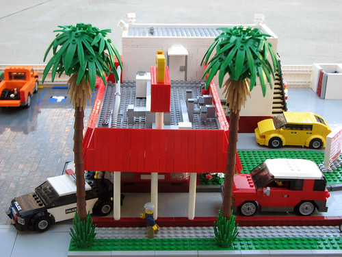 restaurant lego burger hamburger drivethru pasadena innout diorama photostream inandout brucelowellcom