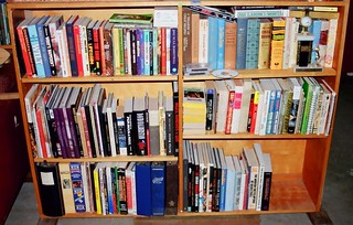 basketball bookshelf with cookbooks