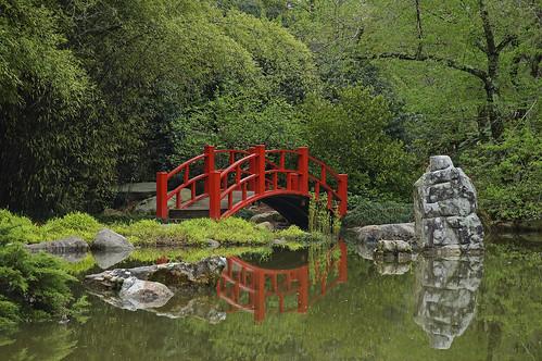 bridge lake gardens botanical japanesegarden birmingham rocks alabama tranquility