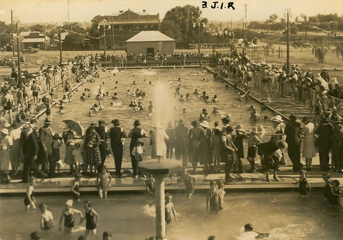 Swimming at Junee   by NSW State Archives and Records