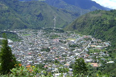 Looking down on beautiful Baños