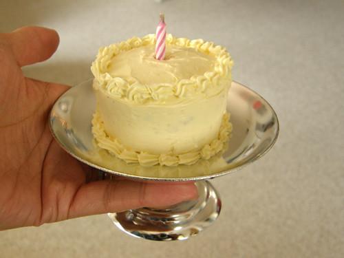 Enjoyable Mini Birthday Cake I Made A Mini Birthday Cake From A Cupc Flickr Personalised Birthday Cards Vishlily Jamesorg