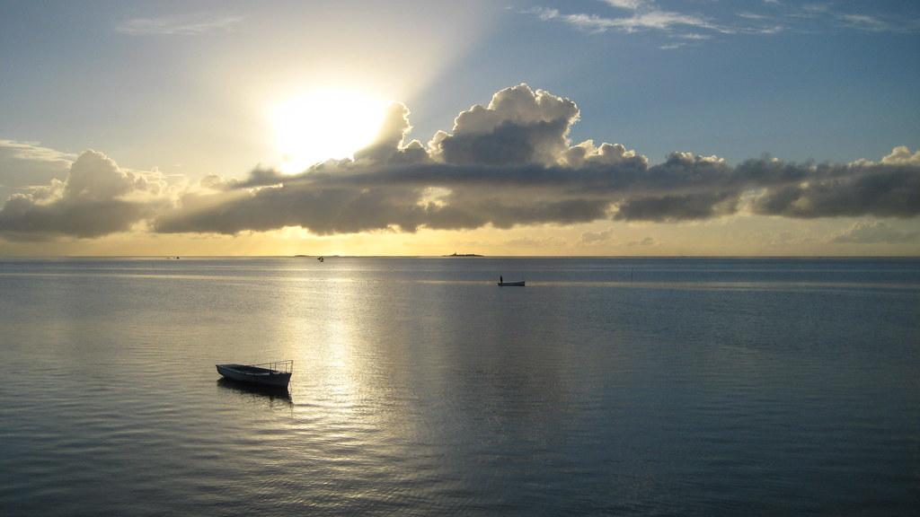 Sunrise view in Mahebourg in Mauritius