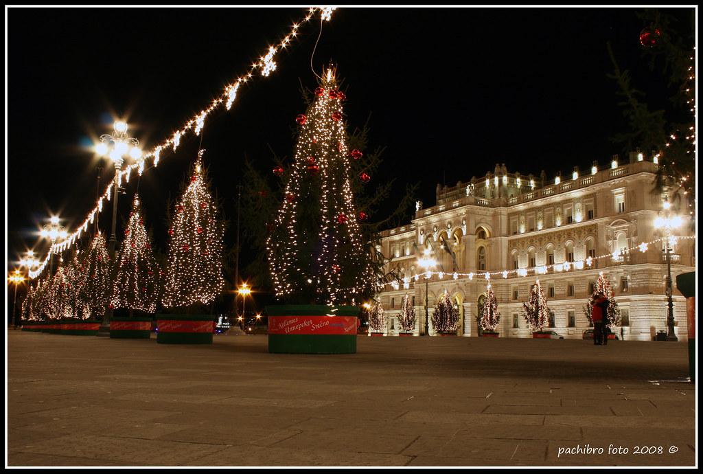 Natale 2008.Trieste Piazza Unita D Italia Natale 2008 Pasqualino