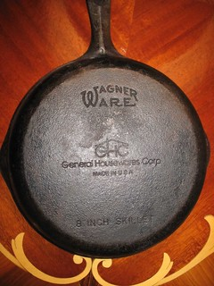 W is for Wagner Ware cast iron frying pans