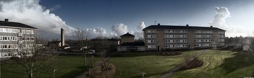 sky panorama cars grass denmark balcony danmark skive jutland jylland panoramastudio sonydsch5 egeris blokke