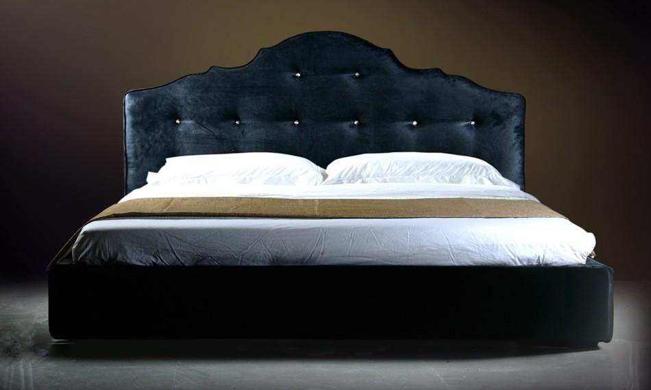 Modern Fabric Bedroom furniture in Black color - VGDVLS407 ...