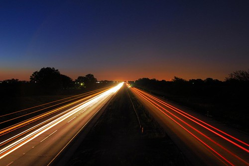 longexposure cars night sunrise dark highway traffic lighttrails i90 taillights
