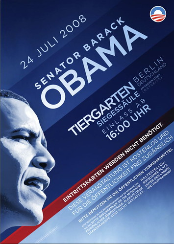 Poster for Obama rally in Berlin | by scriptingnews