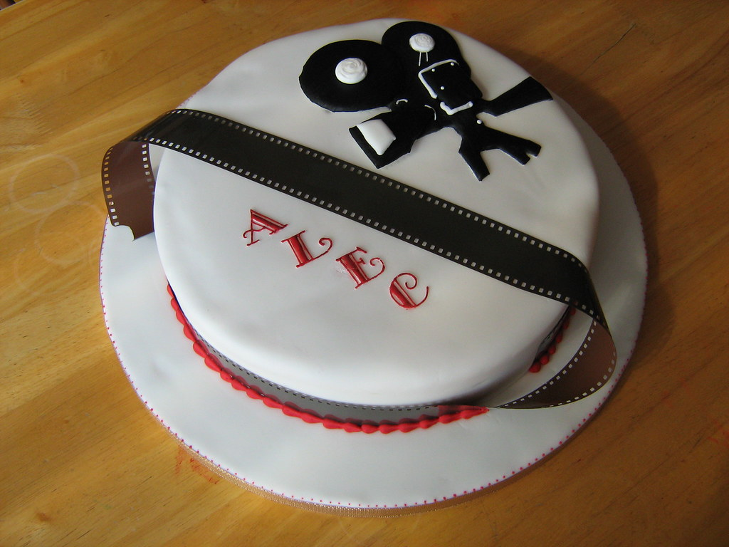 Aspiring Film Director | Cake covered in sugarpaste. Film ca…