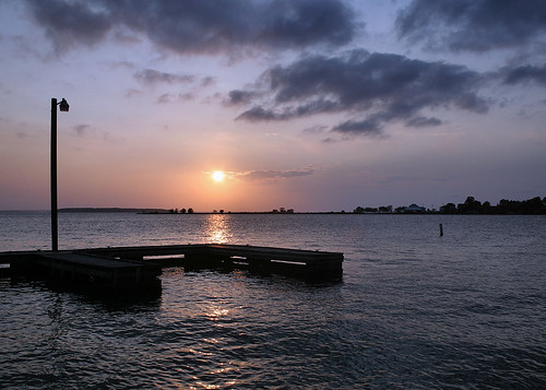 sunset lake water dock ducks lakelivingston